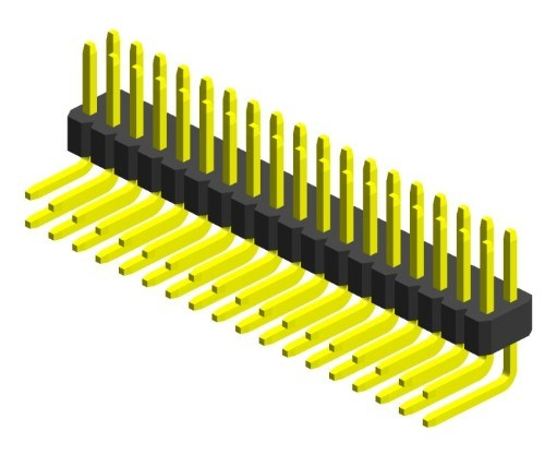 389A 1.00mm Single Row Right Angle Dip Type