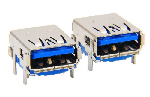 USB 3.0 SINGLE A TYPE RECEPTACLE PD RA DIP TYPE CONNECTOR