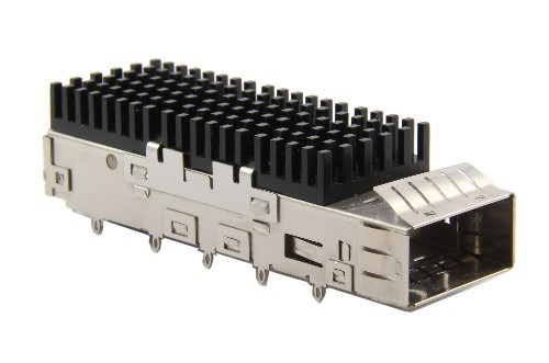 QSFP 1X1 CAGE WITH HEAT SINK